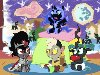 my little pony,Мой маленький пони,nightmare moon,discord,mlp art,minor,Queen ...