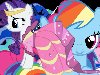 My little pony » Картинка с Флатти,Рарити и Пинки