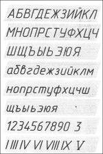 Прописи чертежного шрифта – ( ) —