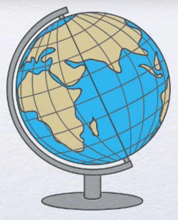 картинки как рисовать глобус больше
